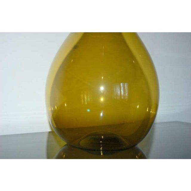 Gullaskruf Vintage Arthur Percy for Gullaskruf Swedish Glass Vase Amber For Sale - Image 4 of 7