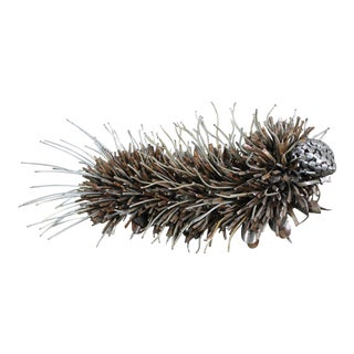 Jason Startup Reclaimed Metal Caterpillar Sculpture/Garden Art For Sale