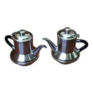 Mid-Century Christian Dior Silver Plated Vintage Teapots, France - a Pair For Sale