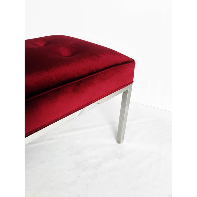 Florence Knoll Tufted Bench For Sale In Dallas - Image 6 of 7