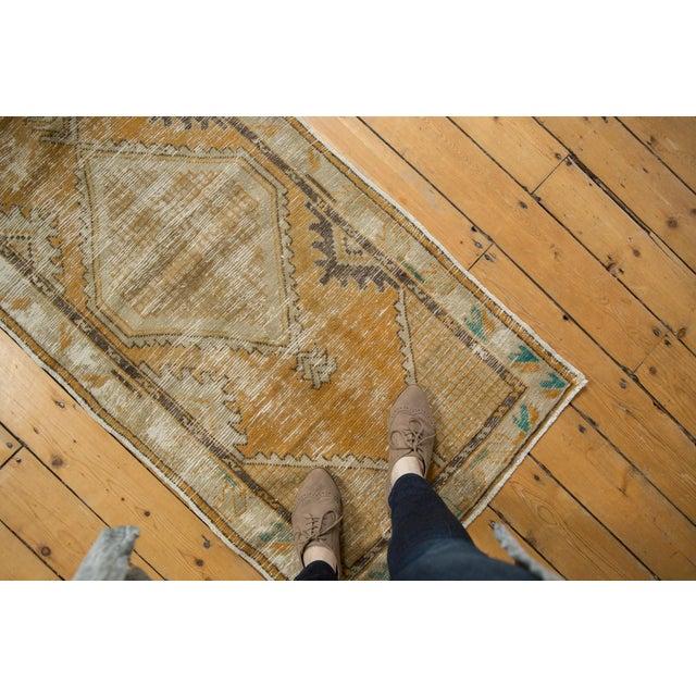 "Textile Vintage Distressed Oushak Rug Runner - 2'7"" X 5'3"" For Sale - Image 7 of 9"