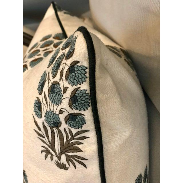 Traditional Custom Muriel Brandolini Silk Throw Pillow For Sale - Image 3 of 5