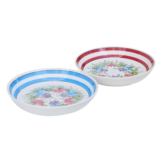 White Gary Valenti Italian Ceramic Bowls, a Pair For Sale - Image 8 of 8