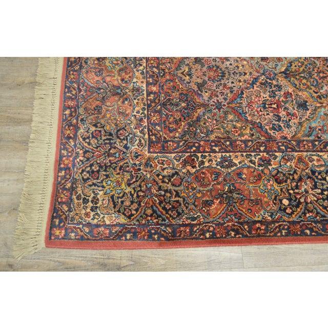 Karastan 8.8x12 Multicolor Panel Kirman Room Size Rug # 717 For Sale - Image 10 of 13