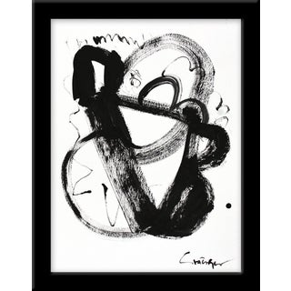 """Noir Et Blanc Nombre 3"" Print by Lesley Grainger, 10"" X 13"" For Sale"