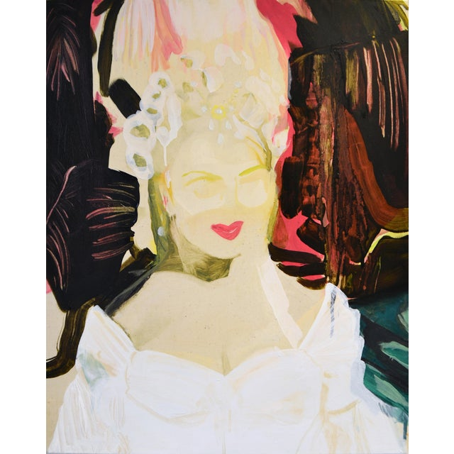 2020s 'Sitting Pretty' Painting For Sale - Image 5 of 5