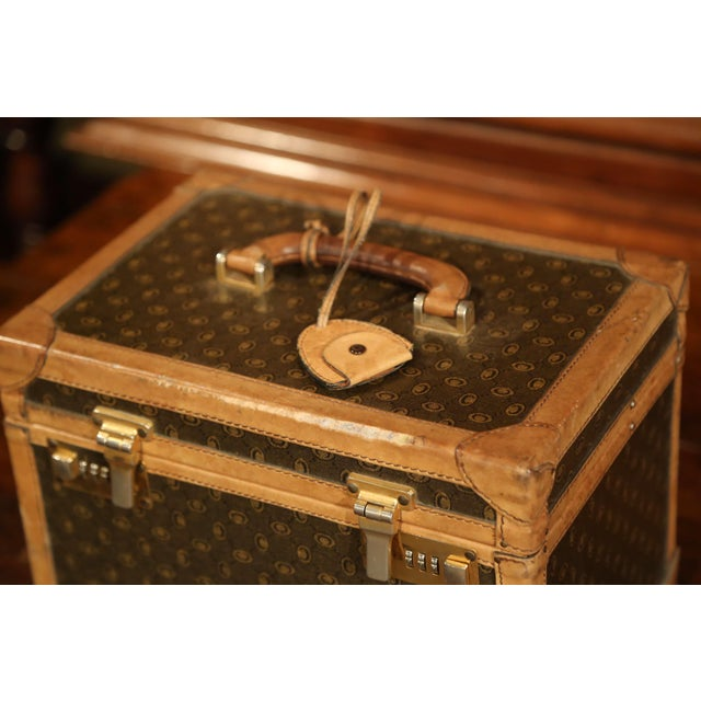 19th Century French Leather Toiletry Box With Decorative Trim and Brass Hardware For Sale - Image 12 of 13
