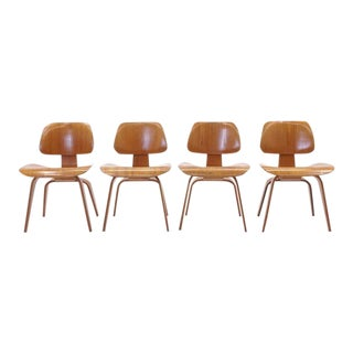 Vintage Eames Dcws Chairs - Set of 4 For Sale