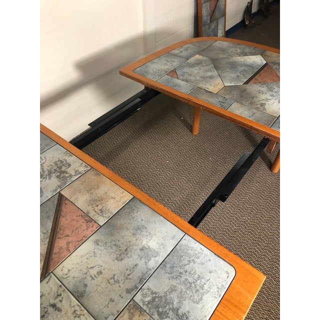 Danish Teak and Tile Extending Dining Table Seats 10 For Sale In Atlanta - Image 6 of 13