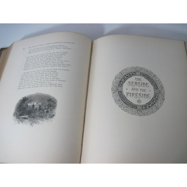Brown The Poetical Works of Henry Wadsworth Longfellow Illustrated For Sale - Image 8 of 13