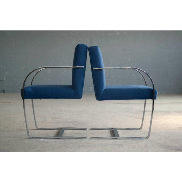 Pair of Brno Style Side Chairs in the Manner of Mies van der Rohe - Image 6 of 10