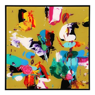 Abstract Atlas Ochre Painting For Sale