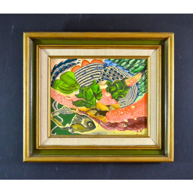 Abstract Sea Theme Framed Oil Painting - Image 2 of 7