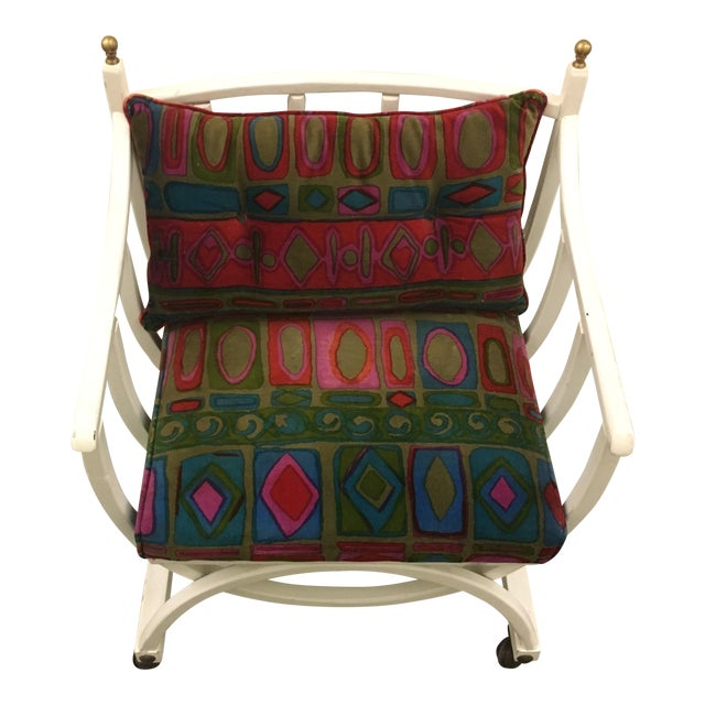 Seventies Chair on Casters For Sale
