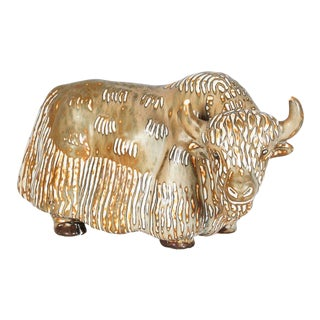 Stoneware Figure of a Water Buffalo, Gunnar Nylund for Rorstrand For Sale