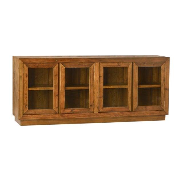 Wood Glass Door Sideboard For Sale