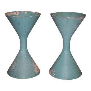 Pair of French Jardinieres by Willy Guhl , 1960s