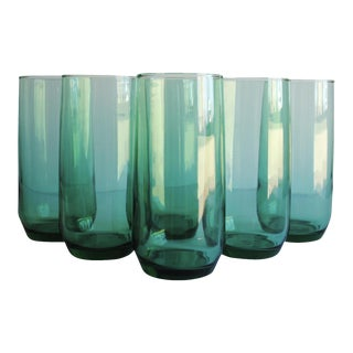 Libbey Metropolitan Cooler Green Glasses - Set of 6