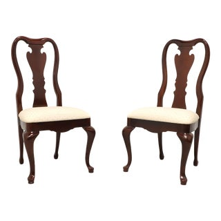 Thomasville Collectors Cherry 831 Queen Anne Dining Side Chairs - Pair A For Sale