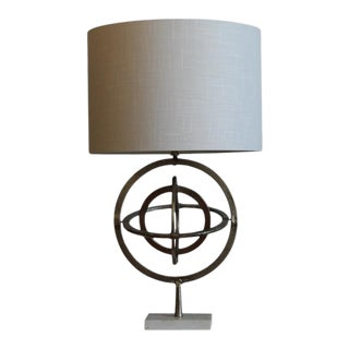 Nickel Unisphere Table Lamp For Sale