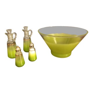 Blendo Green Glass Serving Dishes - Set of 5