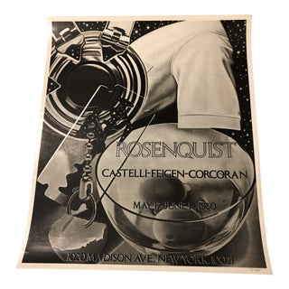 James Rosenquist Exhibition Poster For Sale