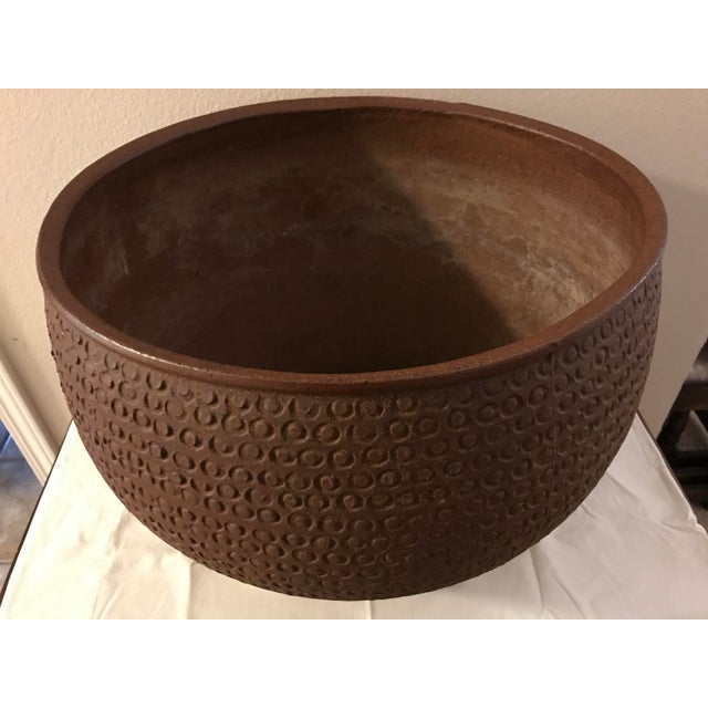 1960s Mid Century Modern Large David Cressey Cheerio Vessel Architectural Pottery For Sale - Image 5 of 13