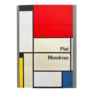 """"""" Piet Mondrian Life and Work """" Vintage 1956 1st Edition Large Volume Lithograph Print Modernist Art Book For Sale"""