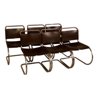 Vintage Mies Van Der Rohe M R Chairs- Set of 6 For Sale