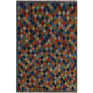1990s Southwestern Balouchi Clementi Gray/Blue Wool Rug - 2'9 X 3'10 For Sale