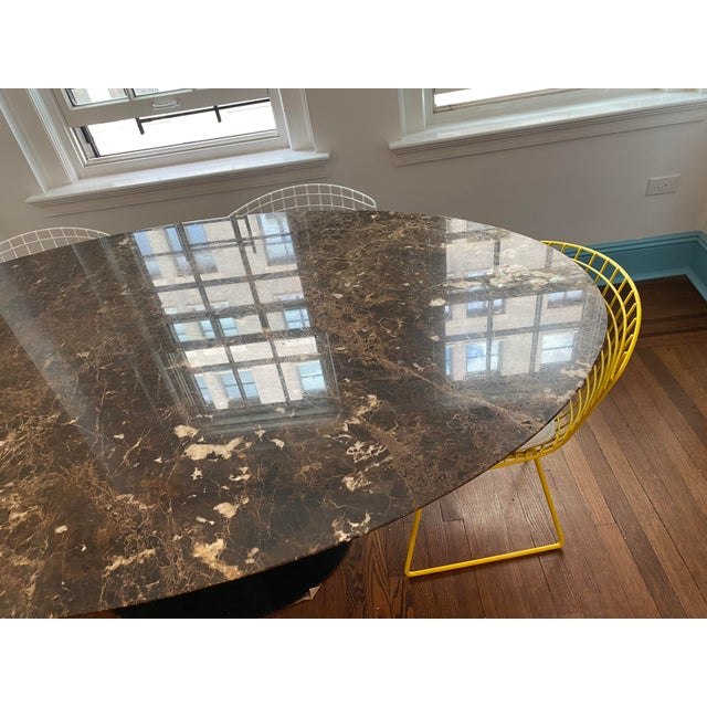 Black Eero Saarinen for Knoll Dining Table in Black Marble For Sale - Image 8 of 11