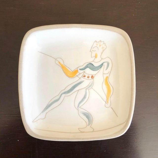 Mid-Century Modern Mid Century Glidden Pottery Circus Plates - Set of 6 For Sale - Image 3 of 9