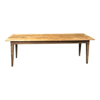 Early French Provencal Elm Farm Table For Sale