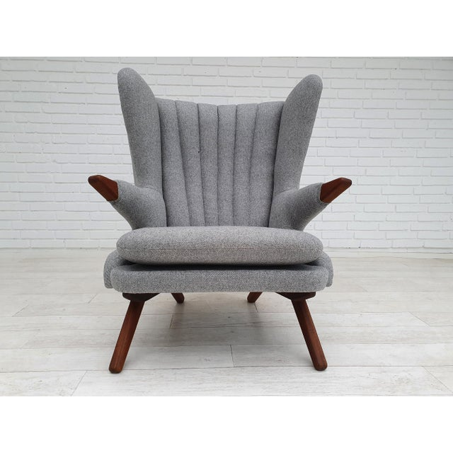 "Original Danish design by Svend Skipper. Vintage ""Teddy bear"" chair after total renovation by craftsman. Made by Danish..."