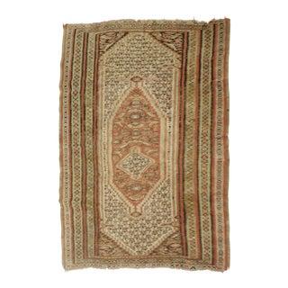 "Antique Persian Senneh Kilim Rug - 4'x 6'4"" For Sale"