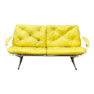Vintage Mid-Century Modern Metal Sofa For Sale