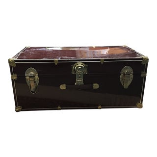Vintage Industrial Military Trunk For Sale