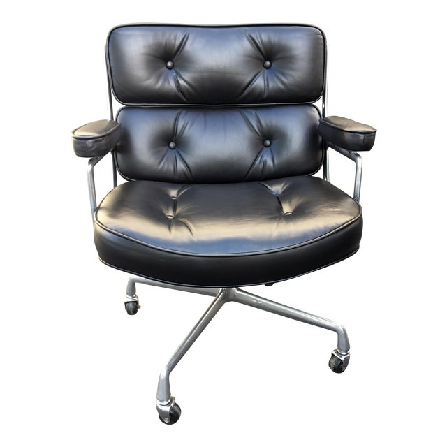 Eames Authentic Time-Life Black Leather Executive Chair