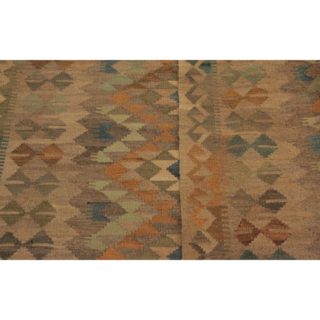 Textile Xara Gray/Blue Hand-Woven Kilim Wool Rug -5'0 X 6'9 For Sale - Image 7 of 8