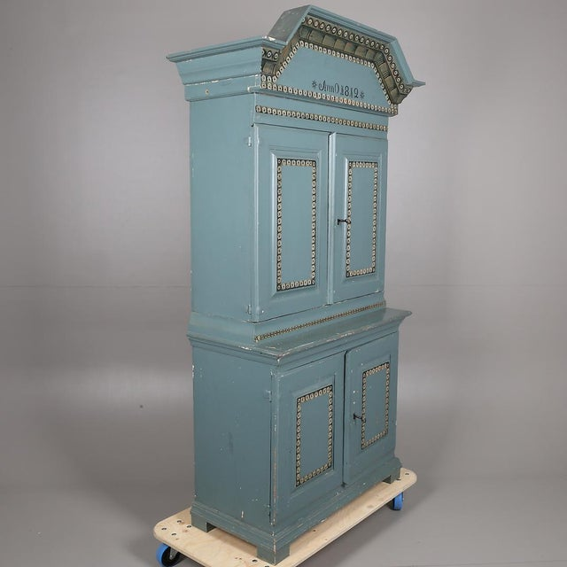 Early 19th Century Swedish Antique Cabinet Anno 1812 For Sale - Image 5 of 6