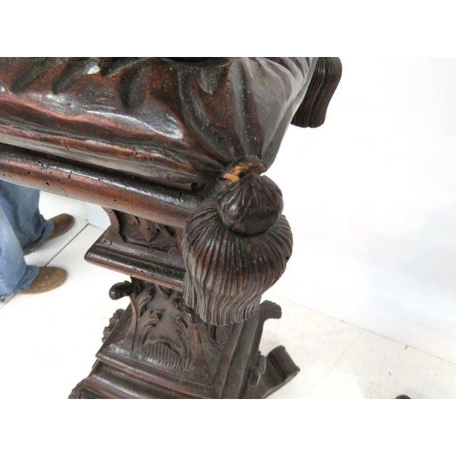 Antique Italian Carved Puttis on Pedestals - Pair - Image 8 of 9