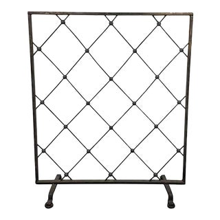 1950s Incredible Iron Screen or Room Divider in the Manner of Jean Royère For Sale