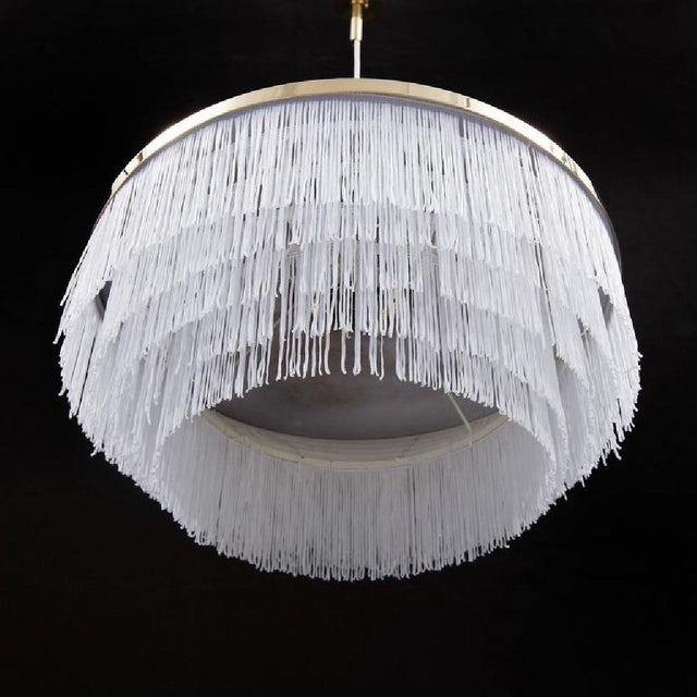 Hans Agne Jakobsson Brass Pendant with Silk Fringes by Hans-Agne Jakobsson, 1963 For Sale - Image 4 of 5