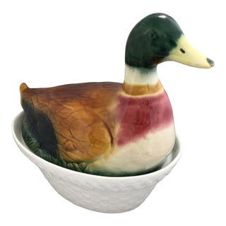 Duck Casserole Dish, Made in Portugal For Sale