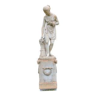 Terra-cotta Ceres and Pedestal