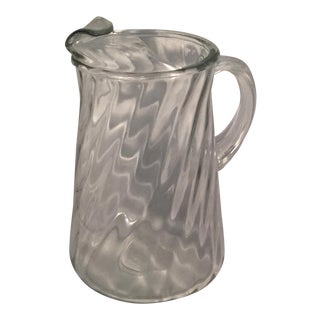 Clear Glass Water Pitcher For Sale