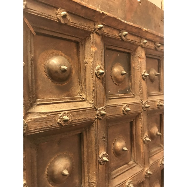 Original Antique Salvaged Hand-Made Indian Doors For Sale - Image 4 of 11