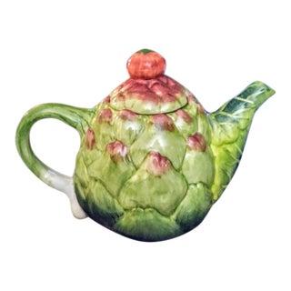 Ceramic Artichoke, Tomato, Scallion Small Teapot For Sale