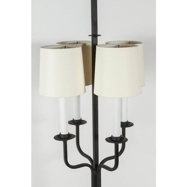 1950s Tommi Parzinger Iron Floor Lamp For Sale In Los Angeles - Image 6 of 8