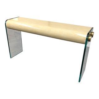 Karl Springer Bone Inlay & Glass Console